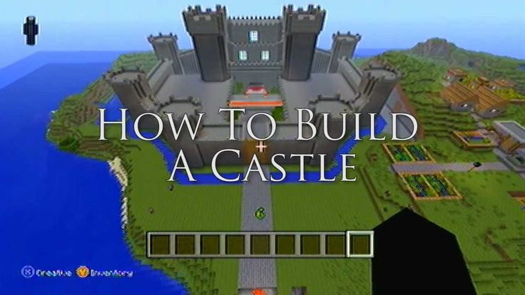 Minecraft ideas how to build a castle youtube for How to build a castle home
