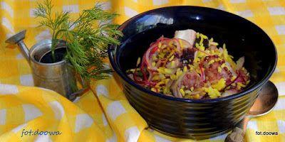 Moje Małe Czarowanie: Sałatka z ośmiornicy z ryżem