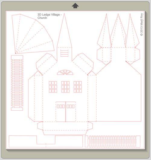 Ashbee Design Silhouette Projects: 3D Ledge Village - Church