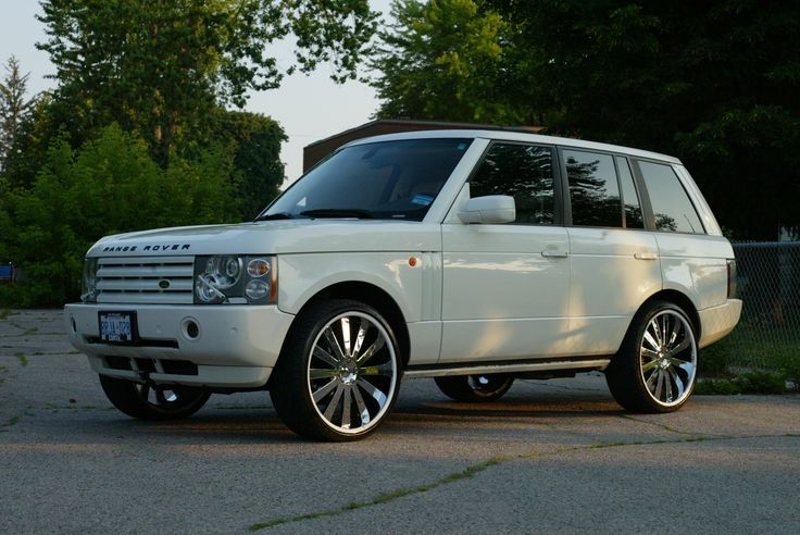 "My 2005 Land Rover L322 Range Rover 4.4L White w/ 24"" Gianelle wheels"