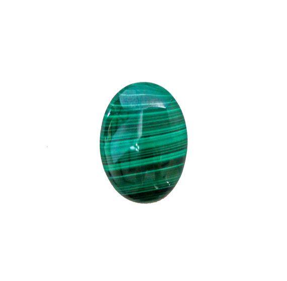 Malachite oval cabochon 27.20 carat by SARAHHUGHESfinegems on Etsy