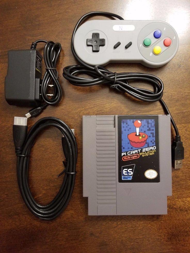 RetroPie NES Cartridge Console Raspberry Pi Zero - Bundle w/ 5000 Games   eBay