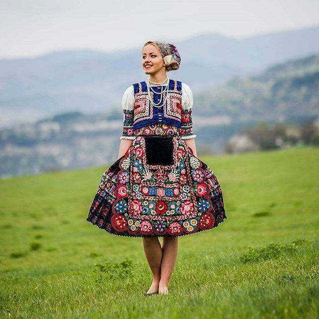 Slovak folk costume from Dobrá Niva.  .  .  .