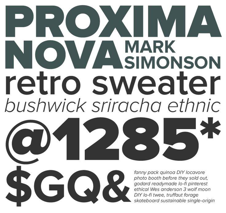 Proxima Nova typeface example