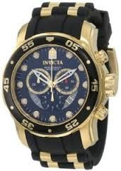 2013 Australian Top Ten Gifts For Him - Invicta Men's 6981 Pro Diver Collection Chronograph Black Dial Black Polyurethane Watch
