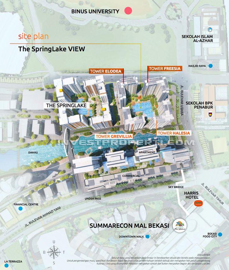 Site Plan Apartemen The SpringLake VIEW Summarecon Bekasi.