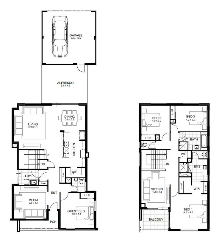 4 bedroom 2 story house floor plans awesome bedroom bath for Affordable 5 bedroom house plans