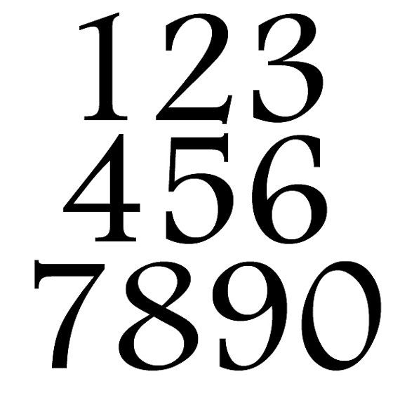 Number Stickers. Large Number Decals. Number Wall Decals. Wheelie Bin Numbers. FREE UK SHIPPING.