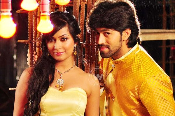 "Yash, Radhika's film delayed http://www.wishesh.com/kollywood/kollywood-news/39928-yash-radhikas-film-delayed.html  Yash and Radhika Pandit starrer film ""Mr and Mrs Ramachari"" will be delayed. Shooting for the film was scheduled for this week but had to be cancelled as a huge set was destroyed by incessant rains."
