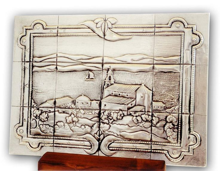 "SPANISH TILE 03 by arteymetal on deviantART Plaque inspired by a tile of a bench to  ""The Laguna Square"" from Ayamonte ""(Spain)."