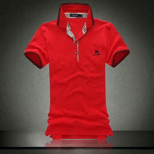 cheap ralph lauren polo Burberry Pique Cotton Collar Short Sleeve Men's Polo Shirt Red http://www.poloshirtoutlet.us/
