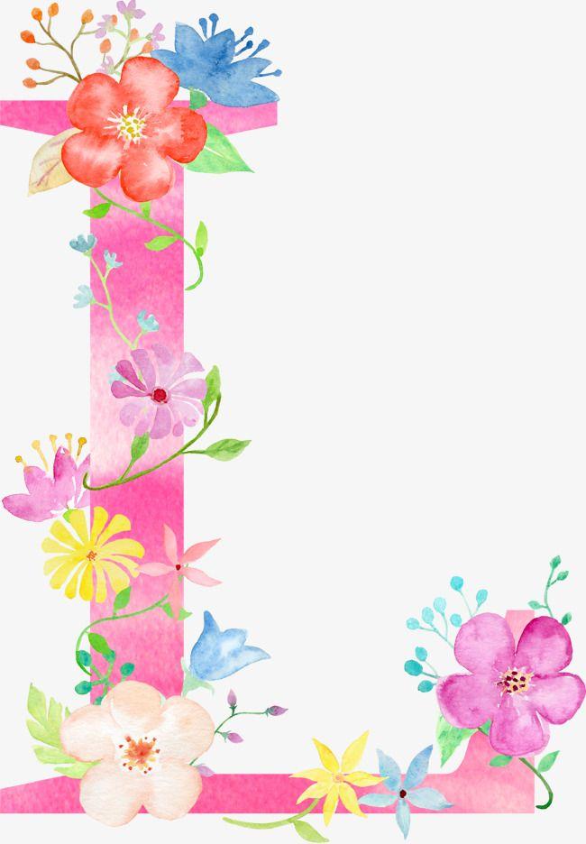 Flowers Letter L Letter Clipart Flower Letter Png Transparent Clipart Image And Psd File For Free Download Letras Com Flores Ilustracoes Florais Logotipo Floral