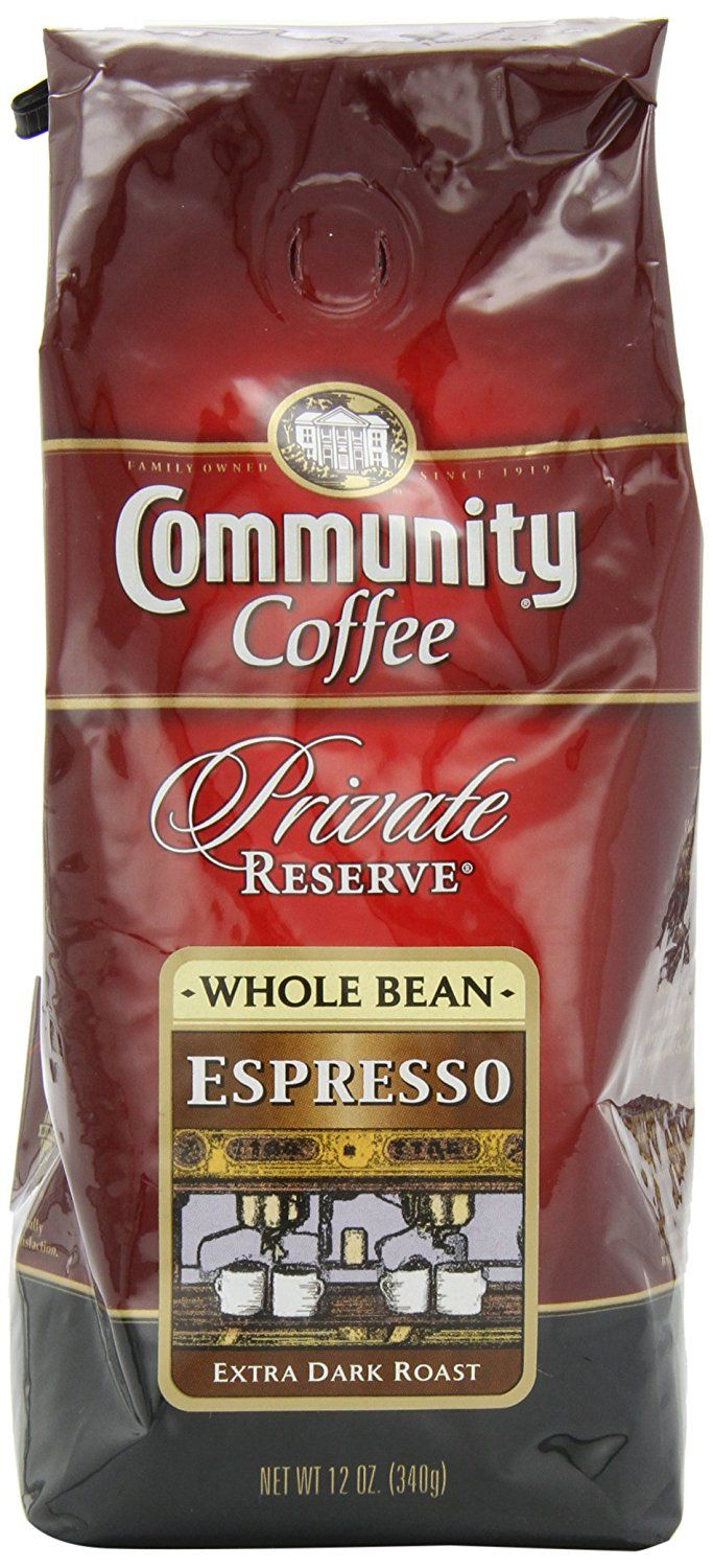 Community Coffee Private Reserve Whole Bean Coffee, Espresso Extra Dark Roast, 12 Ounce Bag * Discover this special item, click the image : Fresh Groceries
