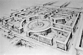 Berlin Modell Mehringplatz (1950)