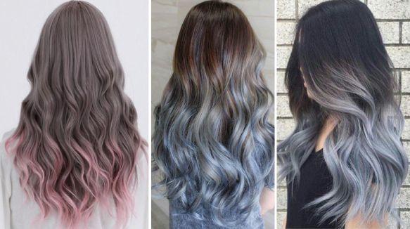 Пример колорироваяни кончиков волос