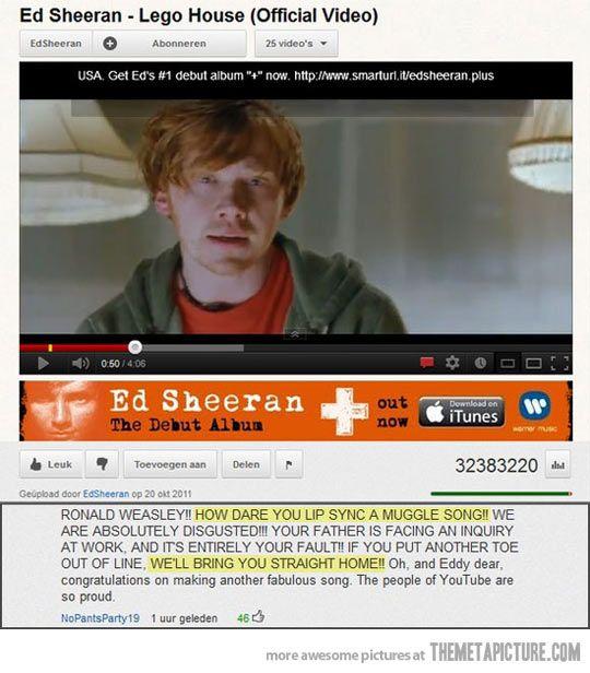 Shame on you Ron. Shame on you.