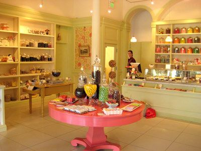Bakery- OMG love... looks like its a shoe store and its already my colors + change  floors to dark brown!