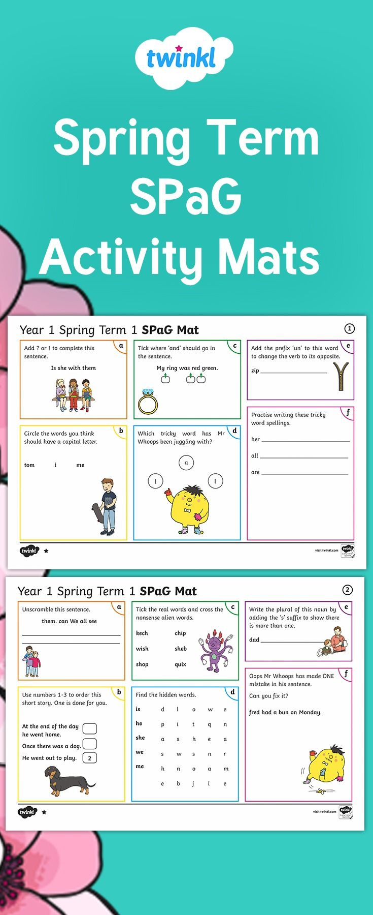 Use These Brilliant Spag Activity Mats To Revise Key Skills In