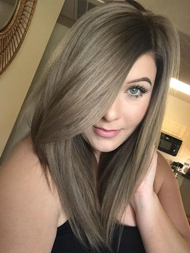 Reddit Fancyfollicles Was Tired Of Doing My Roots With My Platinum Blonde Hair So I Decided To Dye Ash Hair Color Ash Brown Hair Color Platinum Blonde Hair