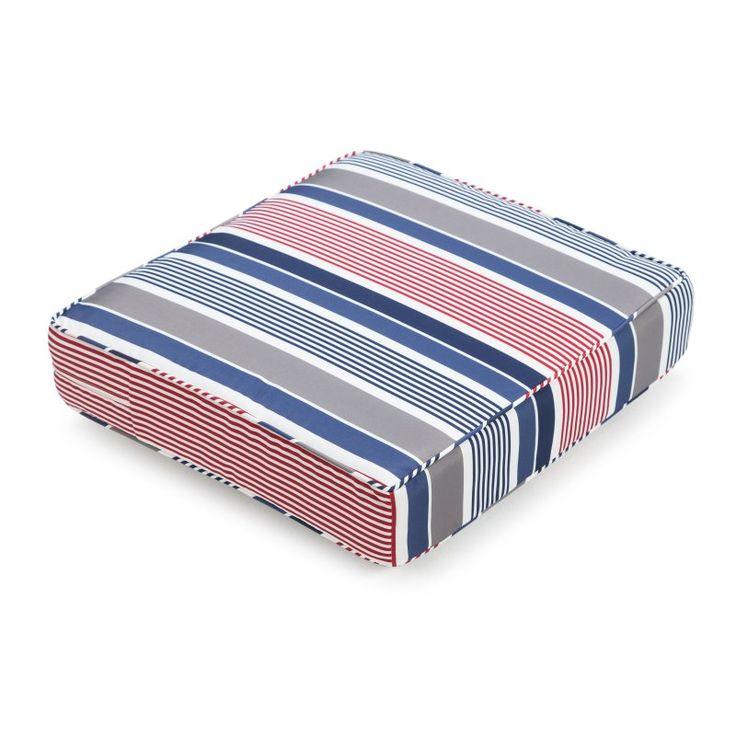 Coral Coast Classic 22.5 x 21.5 in. Outdoor Deep Seating Seat Cushion Americana Stripe - M071-PC118-AMERICANA STRIPE