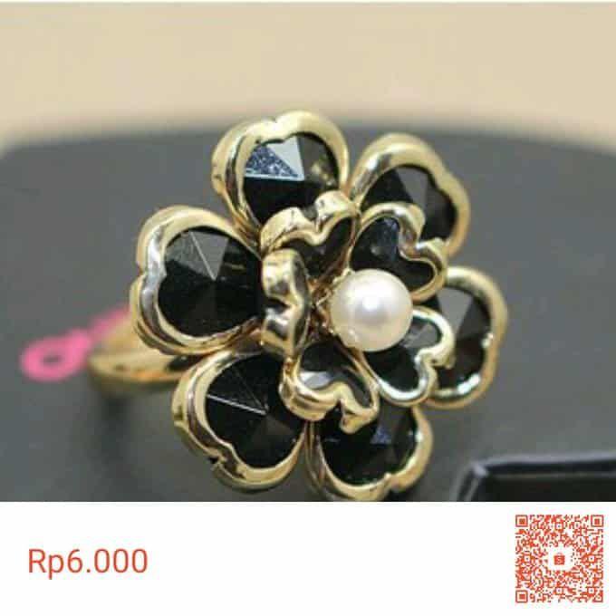Terbaru Cincin Jari Bunga Hitam Golde Wanita Tamz Aksesoris Ready Makassar Seharga Rp6 000 Dap Cincin Aksesoris Bunga