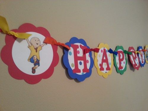 Caillou Birthday | Caillou Happy Birthday Banner | PartyExpressions - Paper/Books on ...