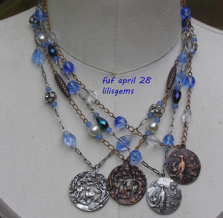 FUF April 28. Lots of 1928 by B'Sue mixed with vintage beads. Trying to think of a new line to create. Will see how it goes.