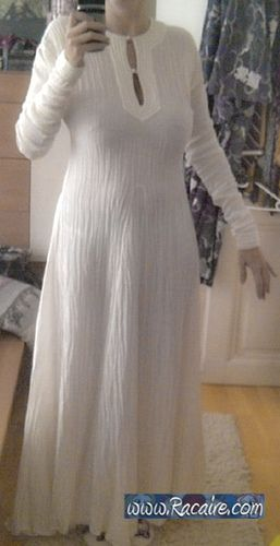 "…my white 12th century silk ""Trapunto"" underdress finished! :D. To date, this is the only technique that I have seen that correctly recreates the look of a 12th century chemise."
