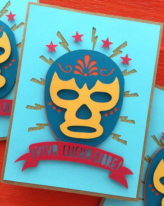 Viva Lucha Libre diversión y colorido mexicano por CorazonesdePapel