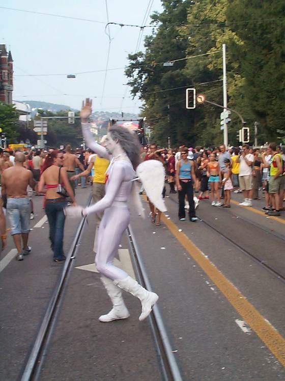 Streetparade Zurich. Angel