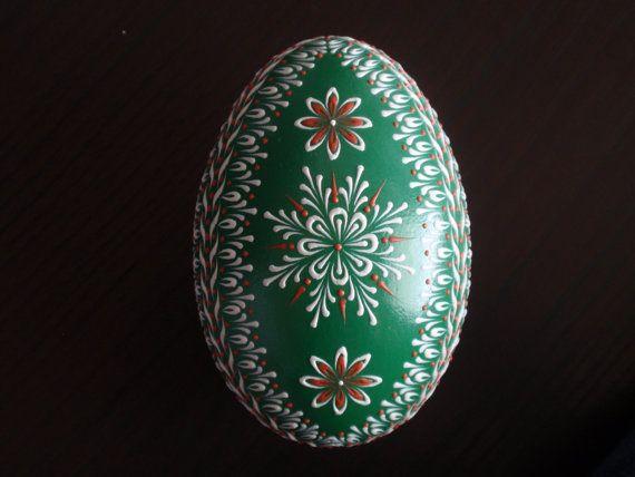 Goose Egg Pysanka Wax Embossed Pinhead DropPull by EggstrArt, $39.95