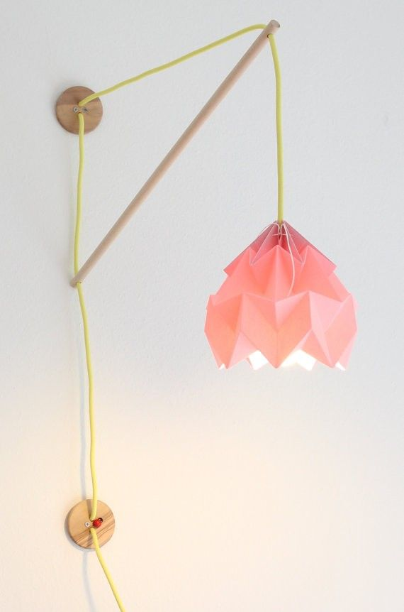 Wall Lamp with Klimoppe Moth | Studio Snowpuppe Really like the simplicity of this