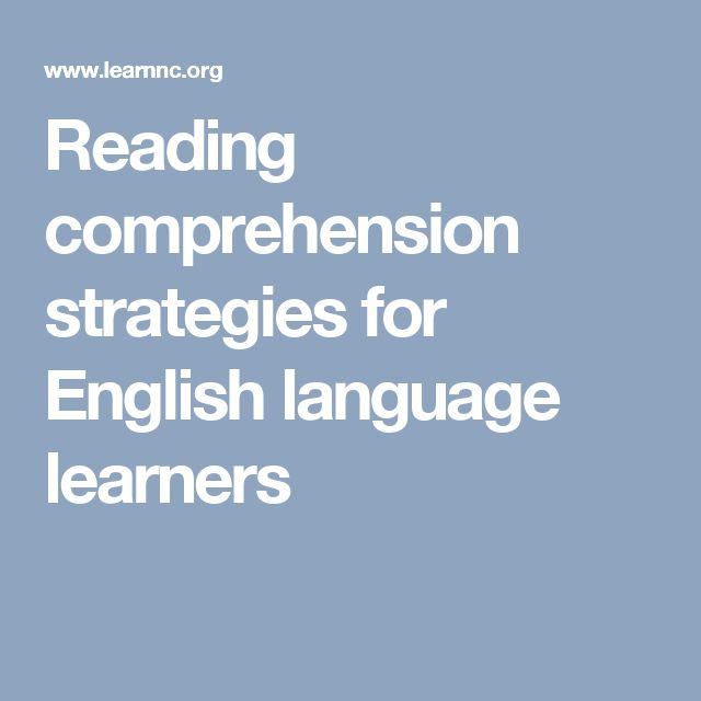 Teaching ELL: Reading and Writing Strategies