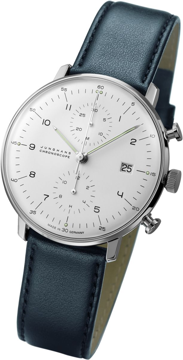 Junghans Max Bill Chronoscope Automatic Chrono Watch | Black Calfskin 027/4600.00 $1,980.00 at Sportiquesf.com