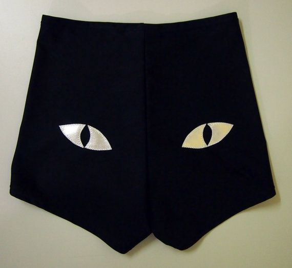 You can never have enough booty shorts! Cat Eye Roller Derby Shorts by HellCatClothing on Etsy.