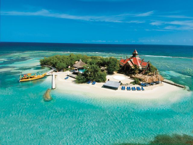 Sandals Royal Carib, Jamaica ~ Their private island just off the coast. Once known as Kokomo (Yes, the one from the famous Beach Boys tune. It really exists!) So peaceful there and fun snorkeling.