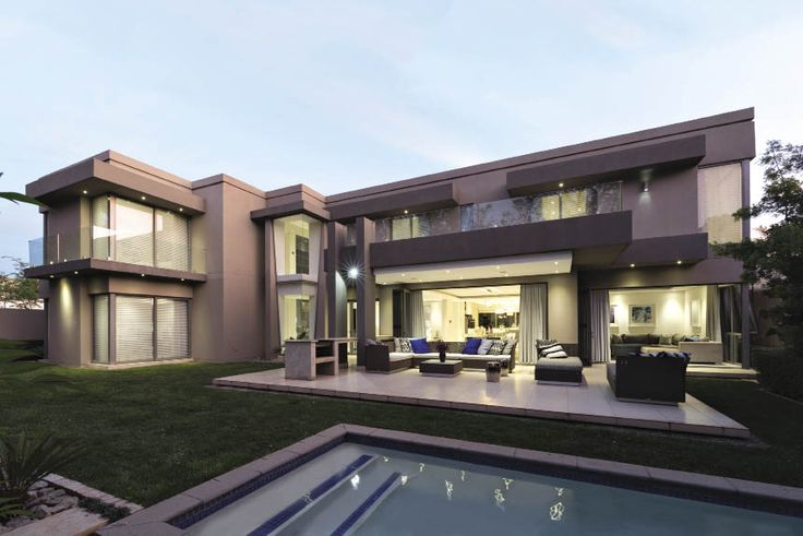 This contemporary home is one of four on a family-owned private estate on the outskirts of Johannesburg.