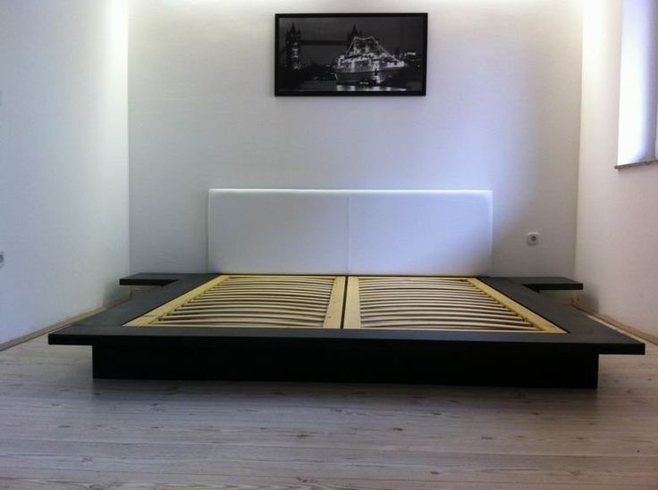 Japanese platform bed plans Not a poor building your own Japanese style platform  bed with DIY instructions The task of choosing which Black And