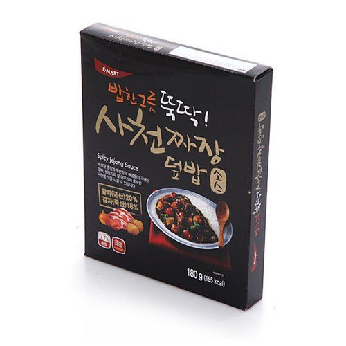 [KFM] Korean Food Sacheon Bowl of Rice Served with Spicy Jajang Sauce 180g 사천 짜장 덮밥 소스 E-MART http://www.amazon.com/dp/B00HOSJ7S2/ref=cm_sw_r_pi_dp_kYxfvb06CPES0