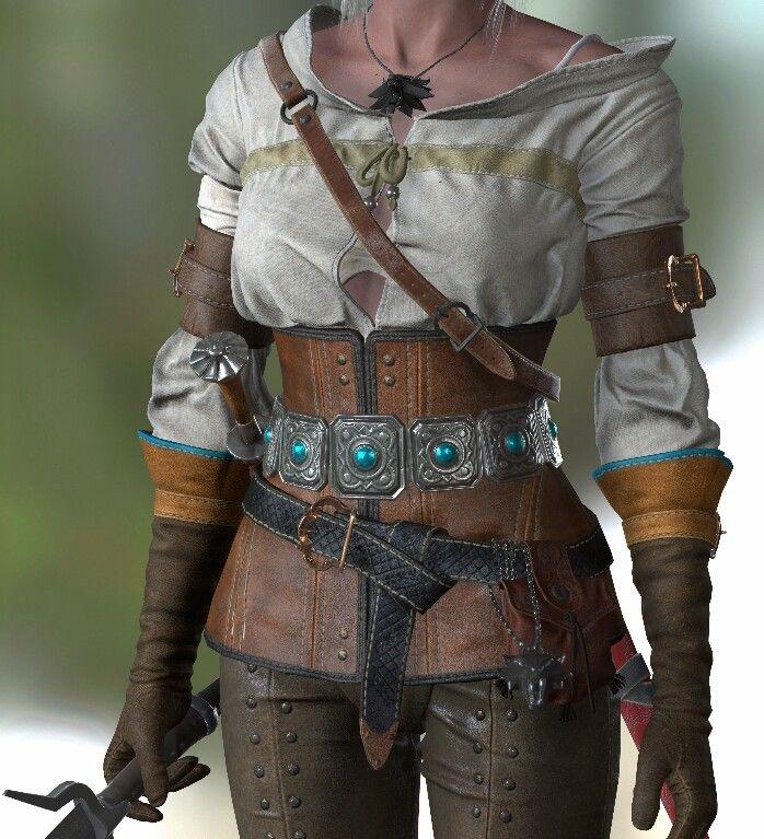 Ciri outfit detail