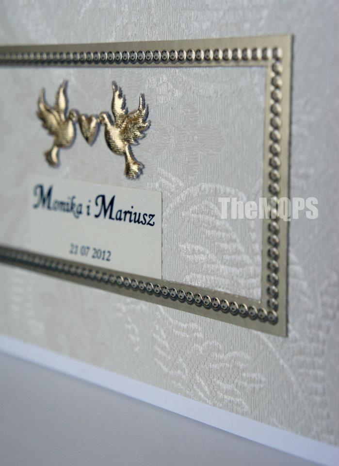 100% handmade & original. Zaproszenie na ślub/ Wedding invitation