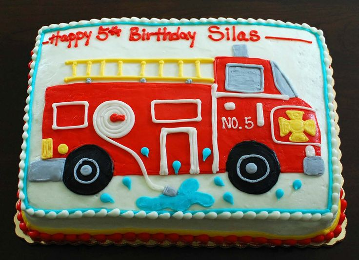 sheet cake fire truck cake - Bing Images
