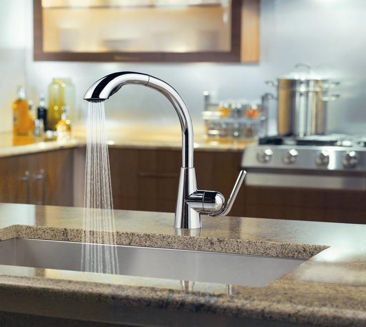Ascent Chrome One Handle High Arc Pullout Kitchen Faucet