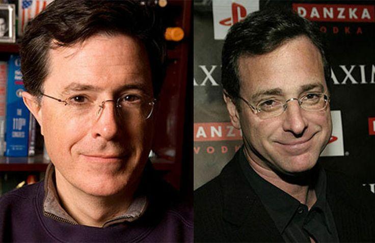 Image result for Stephen Colbert and Bob Saget