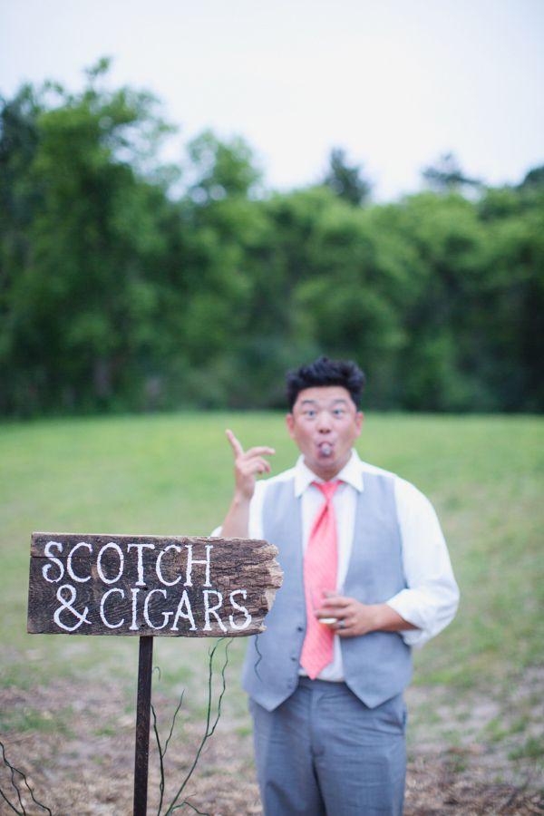 cigar station at wedding http://www.weddingchicks.com/2013 ...