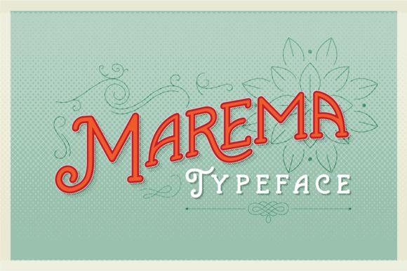 Marema Typeface by AF Studio on @creativemarket