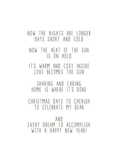 JIP. – Now the days are longer – Christmas