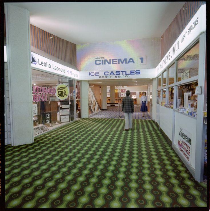 328918PD: Entrance to Hoyts Cinema 1 and the Atheneum II Coffee Lounge, City Arcade, Perth, 25 June 1979 http://encore.slwa.wa.gov.au/iii/encore/record/C__Rb3133226
