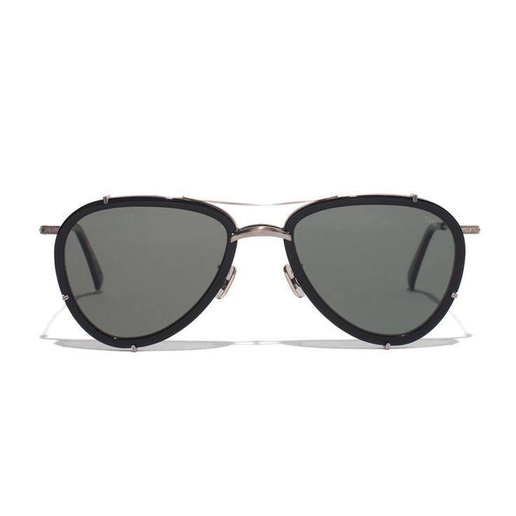Metal & Acetate Aviator Sunglasses