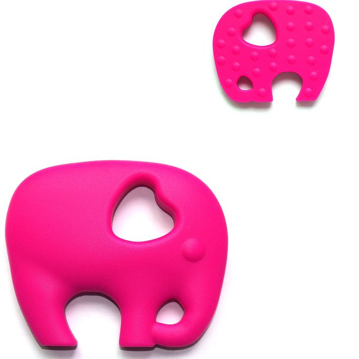 """""""The Art of CureTM Organic Teething Silicone Hot Pink """"Elephant"""""""" Baby BPA Free, All Natural"""